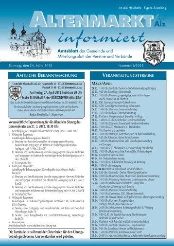 verkaufsoffener SONNTAG 1. 4. - Altenmarkt a. d. Alz