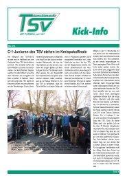 C-1-Junioren des TSV stehen im Kreispokalfinale - fussball ...