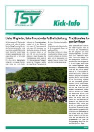 Testspiel TSV Lang-G ¨ons - TV H ¨uttenberg 5:4 (1:2) - fussball ...
