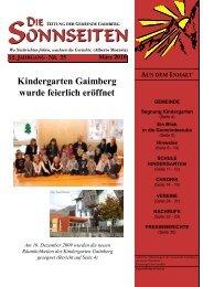 Kindergarten Gaimberg wurde feierlich eröffnet