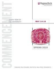 Spring 2010 (PDF) - Virginia Tech