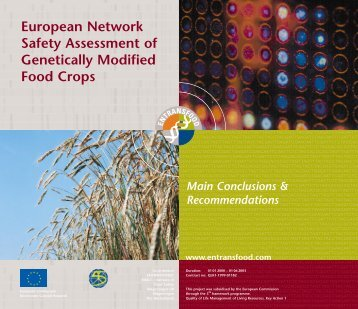 European Network Safety Assessment of Genetically Modified ... - CIB