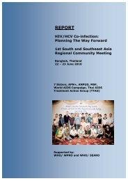REPORT HIV/HCV Co-infection - Thai Aids Treatment Action Group