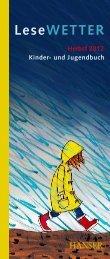 und Jugendbuch Herbst 2012 LeseWETTER - Hanser Literaturverlage