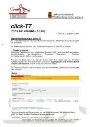 Anleitung zur Ergebniserfassung in click-TT