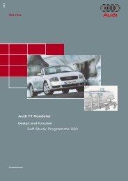 Self-Study Programme 220 Audi TT Roadster