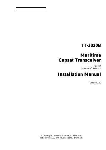 TT-3020B Installation Manual - Polaris-as.dk