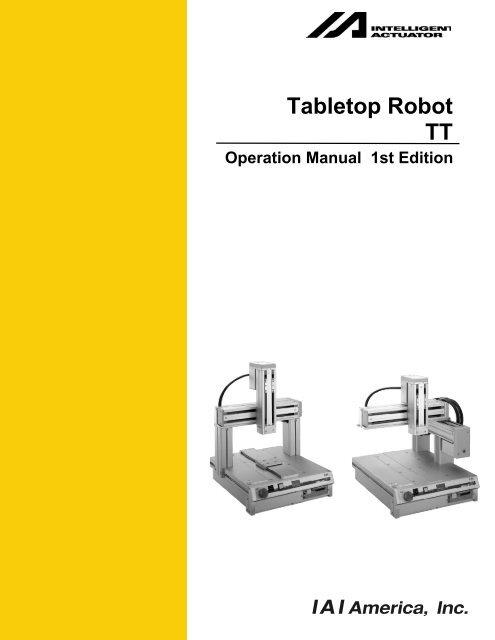 Tabletop Robot TT - Intelligent Actuator Inc