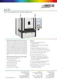 ILS TT – Crystalline Solar Cell Processing - InnoLas Systems
