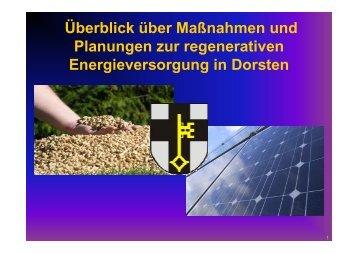 Biomasse / Biogasanlagen - Stadt Dorsten