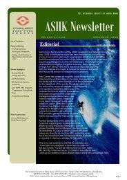 Editorial - Actuarial Society of Hong Kong