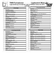 TNW-Formationen Ligabereich West
