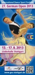 International Dance Sport Festival - German Open Championships