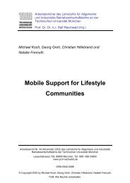 Mobile Support for Lifestyle Communities - CiteSeerX