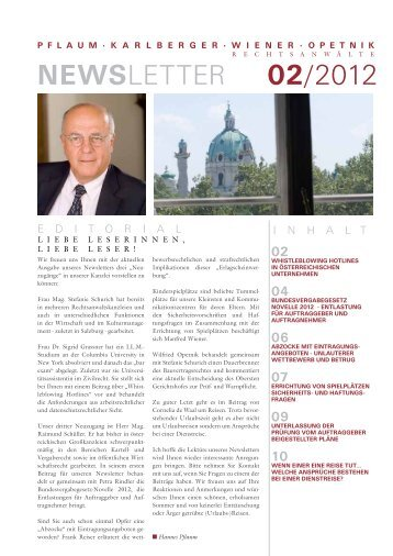 Newsletter 02/12 (PDF) - PFLAUM KARLBERGER WIENER ...