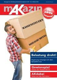 Belastung droht! Gewinnspiel AKdabei - AK - Salzburg