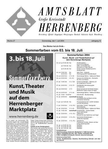 Straßengalerie, Open Air, Kunst in der Altstadt - Herrenberg