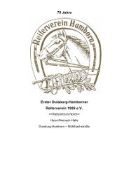 70 Jahre Erster Duisburg-Hamborner Reiterverein 1926 e.V.