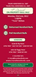 ON-PROPERTY BULL SALE Monday, 23rd July ... - Truro Herefords