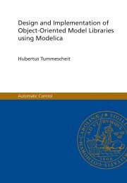 Design and Implementation of Object-Oriented ... - Automatic Control