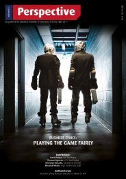 BUSINESS ETHICS: Playing the Game Fairly, Vol. 34 - AmCham