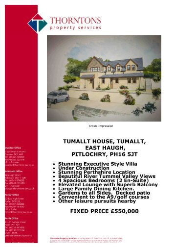tumallt house, tumallt, east haugh, pitlochry, ph16 5jt - Vebra