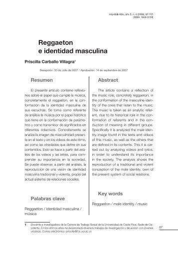 Reggaeton e identidad masculina - Centro de Investigación en ...