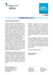 Jäsentiedote 1/2010 (pdf) - Suomen Yrittäjät