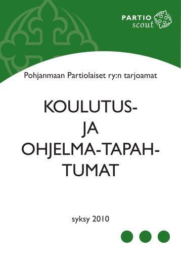 KOULUTUS- JA OHJELMA-TAPAH- TUMAT - Pohjanmaan ...