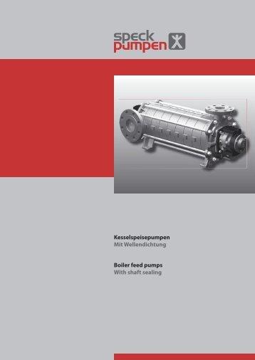 Kesselspeisepumpen Mit Wellendichtung Boiler ... - SPECK Pumpen