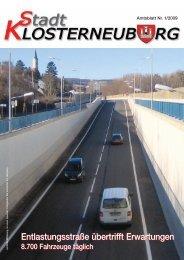 Amtsblatt Nr. 1/2009 - Stadtgemeinde Klosterneuburg
