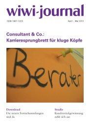 Consultant & Co.: Karrieresprungbrett für kluge Köpfe - WiWi-Journal