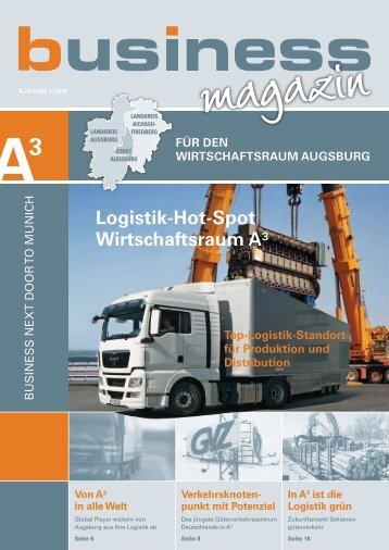 A3 Business Magazin - im Wirtschaftsraum Augsburg.