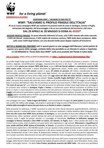 """WWF: """"SALVIAMO IL PROFILO FRAGILE DELL'ITALIA"""""""