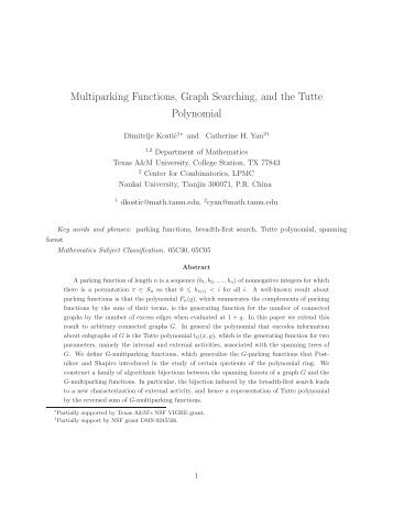 Multiparking Functions, Graph Searching, and the Tutte Polynomial