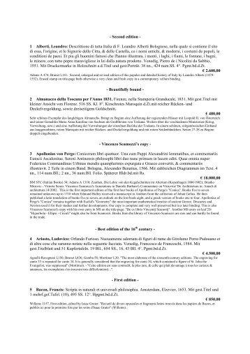 - Second edition - 1 Alberti, Leandro: Descrittione di tutta Italia di F ...