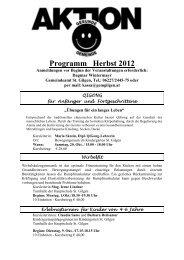 Programm Herbst 2012 - St. Gilgen