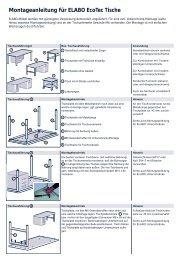 Montageanleitung für ELABO EcoTec Tische - Tuttas Jensen