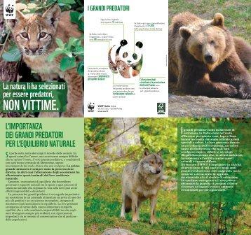 La natura li ha selezionati per essere predatori, NON ... - WWF Italia