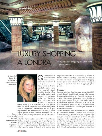 LUXURY SHOPPING A LONDRA - Ticino Management