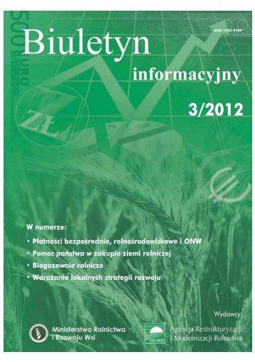 biu 3_2012 archiwum ekran.pdf - Ministerstwo Rolnictwa i Rozwoju ...