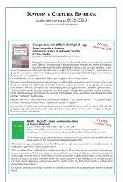 Catalogo Natura e Cultura editrice - I nostri Libri