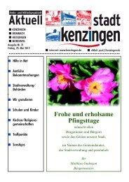 Frohe und erholsame Pfingsttage - Kenzingen