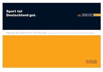 Agenda Sport tut Deutschland gut (PDF, 104 KB - Einfach teilhaben