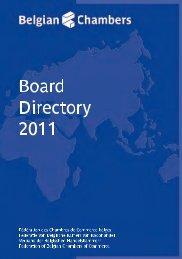 Board Directory 2011 - Belgische Kamers van Koophandel