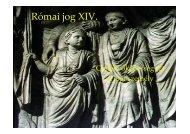 XIV. - Cselekvőképesség (2). A jogi személy