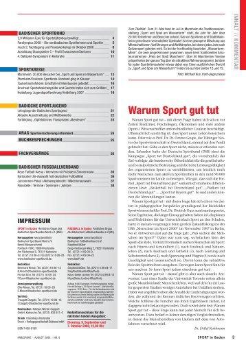 Wa rum Sport gut tut - Badischer Sportbund Nord eV