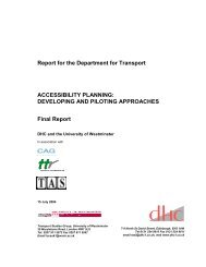 DEVELOPING AND PILOTING APPROACHES Final Report - DHC Ltd