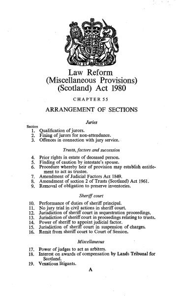 Law Reform (Miscellaneous Provisions) (Scotland) Act ... - Inside Time