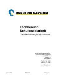 Fachbereich Schulsozialarbeit - Soziale Dienste Sarganserland